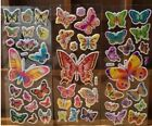 2 Sheets Puffy Butterfly Stickers