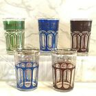 vintage Bohemian Style juice glasses Set of Five Holds 7 Ounces marked VN