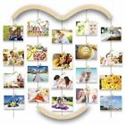 Hanging Photo Display for WallWood Picture Frame Collage w 30 Clips 291x252in