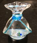 Murano Glass Fish in a Bag Blue Ribbon Paperweight 5 T 2lbs 4 Oz