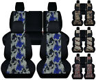 CC Front+Rear digital camouflage car seat covers fits JK wrangler 4dr 2007 2018