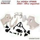 For 2002-2012 HONDA VFR800 VFR 800 Unpainted Fairing Kit ABS Plastic Bodywork