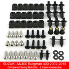 For Suzuki AN400 Burgman 400 2002-2018 Complete Fairing Body Bolts Fasteners Kit