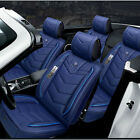 Blue PU Leather 6D Full Surround Car FrontRear Seat Cover Protector Accessories