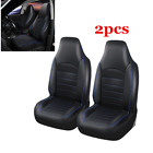 Universal Synthetic Leather Car Front Seat Cover BlackBlue Interior Accessories