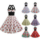 Womens Vintage Rockabilly Style Pinup Swing Dress Party Housewife Dress 50s 60s