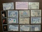 Big lot of stamp packets on paper US Europe Asia many countries