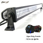 Curved 54inch 700W LED Light Bar Flood Spot Roof Driving Truck RZR SUV Dodge 52