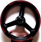 RED BLACK GP STYLE CUSTOM RIM STRIPES WHEEL DECALS TAPE STICKERS YAMAHA YZF R6