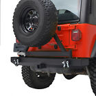 Rear Bumper with Tire Carrier Rock Crawler Fit for 87-06 Jeep Wrangler YJ TJ