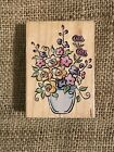 Vase Of Flowers Rubber Mounted Stamp All Night Media 460H