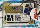 2017 Topps Triple Threads Francisco Lindor World Series 3Color Patch Auto 18