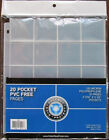15 CSP 20 POCKET COIN ALBUM STITCHED PAGES HOLDS 2X2 COIN PAPER FLIP