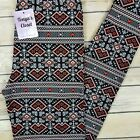 Valentines Day Leggings Geometric Hearts Buttery Soft ONE SIZE OS