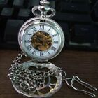 Silver Hollow Mechanical Watch Retro Classic Pocket Watch For Men And Women aS