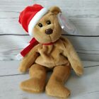 Ty Beanie Babies Teddy 1997 Christmas Holiday Brown 12-25-1999 Hat Scarf # 4200