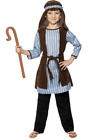 Kids Age 4 9 Years Shepherd Christmas Nativity Fancy Dress Costume