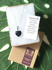 Blue Goldstone Crystal Stone Heart Shaped Reiki Empowered Silver Necklace