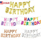 HAPPY BIRTHDAY Set Alphabet Letters Foil Balloons Birthday Party Decor 16 US