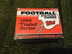1989 TOPPS TRADED FACTORY FOOTBALL SET (132 CARDS)