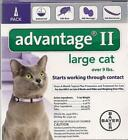 Advantage II Flea Control for LARGE Cats 9+ lbs 8+ WEEKS ONE 1 DOSE