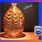 MURANO ITALY Amber Wave Glass Vase CENEDESE MURANO VETRI VINTAGE COLLECTABLE