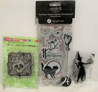 Graphic 45 Stampendous HALLOWEEN Witch Cat Cling Rubber Stamps Lot