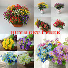 Artificial Flowers Daisy Outdoor Plastic Rose Bouquet Floral Decal Decor Home