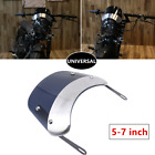 5-7IN Universal Retro Motorcycle Round Headlamp Fairing Front Windshield Bracket