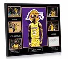 LeBron James The Lakers A3 Framed Tribute Canvas Print Signed