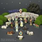 Vintage French Provence Feves Miniature Creche Santons Nativity Figurines 24 pcs