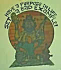 SET A BAD EXAMPLE T SHIRT IRON ON VINTAGE WEIRD BUM UNUSED MENS WOMENS TRANSFER