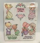 Stampendous PRECIOUS MOMENTS Friends Sisters Foam Rubber Stamps Set