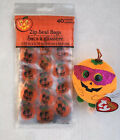 Halloween Treat Bags with Zip Seal (40 Count) and Ty Beanie Toy