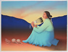 RC Gorman original signed numbered lithograph 30 225 Native American art