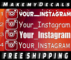 TWO 2 CUSTOM YOUR USERNAME INSTAGRAM JDM VINYL EURODRIFT DECAL STICKER