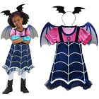 Disney Vampirina Girls Cosplay Dress Wing Headwear Party Fancy Dress Costume Lot