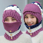 Mask + Scarf + Knit Hat 3 in 1 Windproof Hat Warm Ski Beanie Cap Outdoor Warm