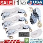 4 2 Ton Poly Rope Hoist Pulley Wheel Block And Tackle Puller Lift Tools Hanger