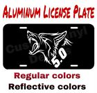 Aluminum License Plate Coyote 5.0 Many Colorsreflective Colors
