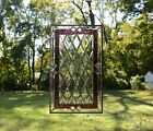 2025 x 3425 Stunning Handcrafted stained glass Clear Beveled window panel
