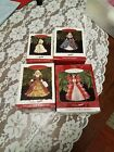 Lot of 4 Hallmark Keepsake Ornaments,  Holiday Barbie Collector's Series 1994-97