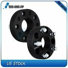 2Pcs 15 5x127 Hubcentric Black Wheel Spacers 1 2 Studs For Jeep Wrangler JK