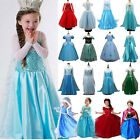 Kid Girl Elsa Queen Anna Princess Dress Up Cosplay Fancy Party Christmas Costume