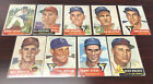 1953 TOPPS PARTIAL SET LOT OF 9 CARDS CLEAN