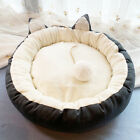 US Winter Pet Cat Dog Round Bed Cute Cat Ears Nest Soft Warm Washable Cushion