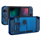 Transparent Clear Blue Full Set HousingShell Case + Buttons for Nintendo Switch