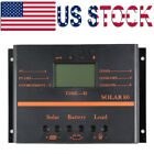 80A Solar Charge Controller Battery Solar Panel Regulator LCD 12V 24V Auto USB