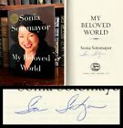 My Beloved World HAND SIGNED by Supreme Court Justice Sonia Sotomayor Obama