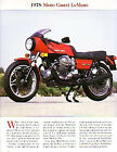 1978 Moto Guzzi LeMans 850 Motorcycle Article - Must See!! - 850 Le Mans
